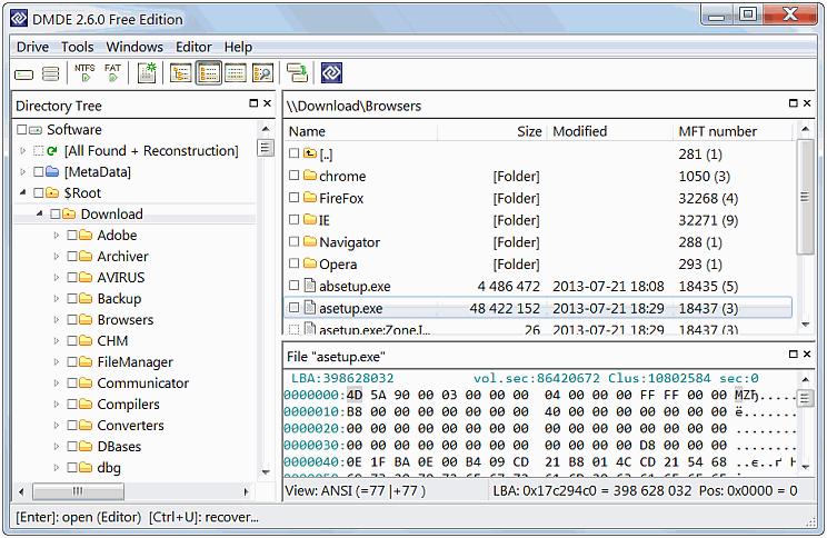 برامج استرجاع الملفات
