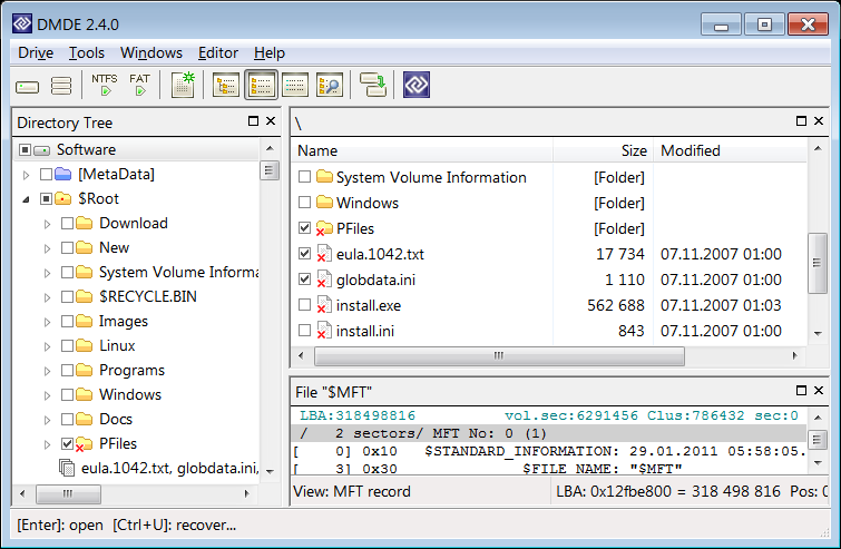 Windows 7 DMDE - DM Disk Editor and Data Recovery 3.4.3.739 full